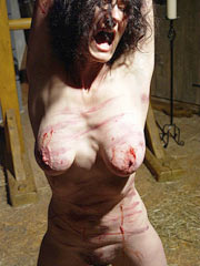 Whipping of screaming slave